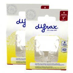 2盒装 | DIFRAX迪福标准奶嘴M码1m+ 2个装/盒