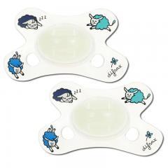 2个装 | DIFRAX 迪福 婴儿夜光安抚奶嘴 0-6M