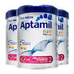 3罐 | Aptamil愛他美白金版2號較大嬰兒奶粉900g
