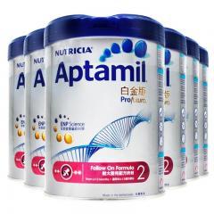 6罐 | Aptamil愛他美白金版2號較大嬰兒奶粉900g