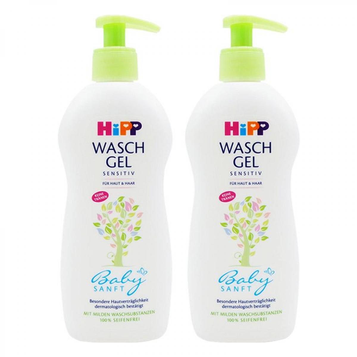 【2支装】HiPP喜寶嬰兒有機杏油2合1洗髮沐浴露400ml