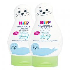 【2支装】Hipp 婴儿小海狮无泪免敏2合1洗发沐浴露200ml