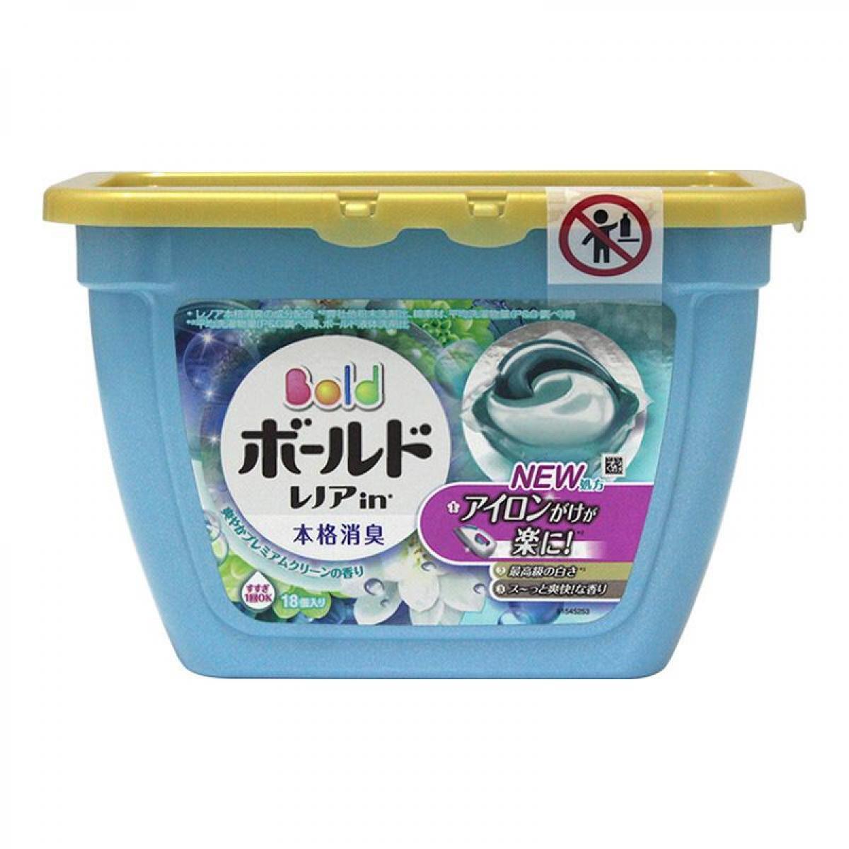 日本宝洁P&G  3D自然花香洗衣球-绿
