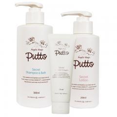 貝嘟嘟Putto Secret嬰兒洗護套裝(身體乳+潤膚霜+洗髮沐浴露)(M0660001+M0660002+M0660003)